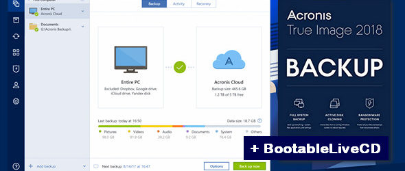 Acronis True Image 2018 version 9302