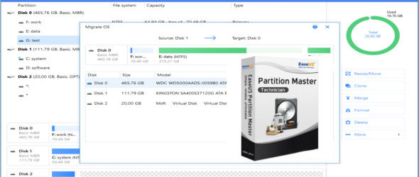 EaseUS Partition Master 13.0 Technician