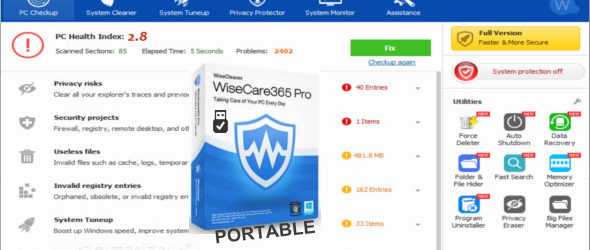 wise care 365 pro full portable