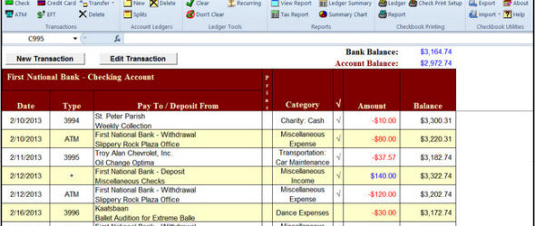 Checkbook For Excel 6.1.2