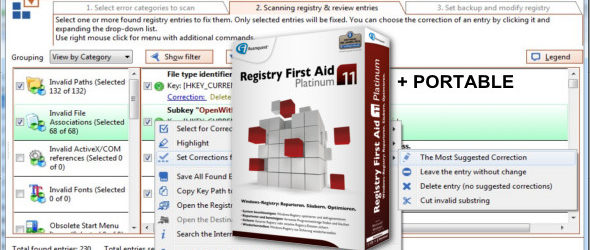 Registry First Aid Platinum 11.3.0 + Portable
