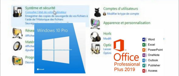 Windows 10 Pro + Office edition 2019