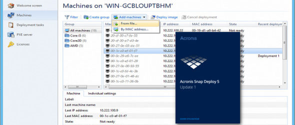 Acronis Snap Deploy 5.0.1924