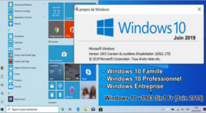 Windows 10 v1903 3in1 Fr (Juin 2019)