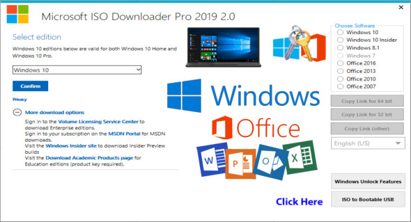 Microsoft ISO Downloader Pro 2019 2 0   TrucNet