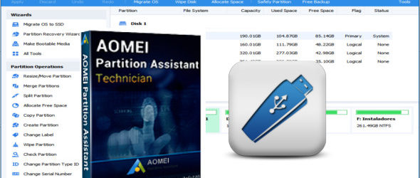 AOMEI Partition Assistant Technician 8.7 WinPE