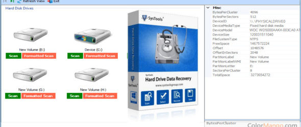 SysTools Hard Drive Data Recovery 16.3