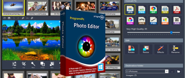 Program4Pc Photo Editor 7.6 + Portable