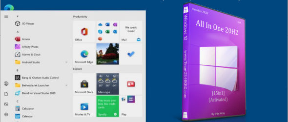 Windows 10 All In One 20H2 2009 (16in1) Fr